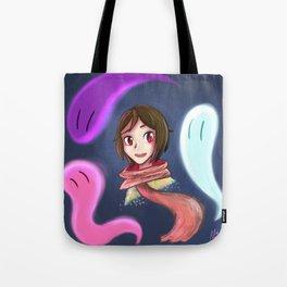 Glowing Ghosts Tote Bag