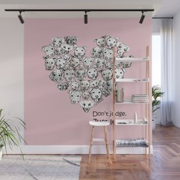 Just Love. (black text) Wall Mural