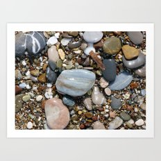 Shiny Pebbles Art Print