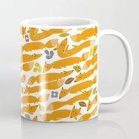 kitsune Mugs featuring Kitsune by Mamoizelle