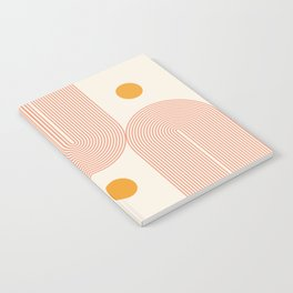 Abstraction_SUN_DOUBLE_LINE_POP_ART_Minimalism_001C Notebook