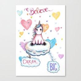 Dream Big Quote Canvas Print