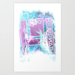 Halucinated H Crazy Chill Art Print