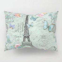 Paris - my love - France Eiffeltower Nostalgy - French Vintage Pillow Sham