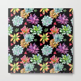 Colorful Succulents Metal Print