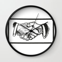 Handshake Wall Clock