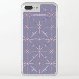 Purple diamond Clear iPhone Case
