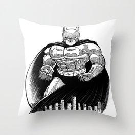 Bat Rumble Throw Pillow