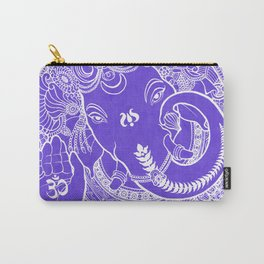 Ganesha Lineart Lilac White Carry-All Pouch