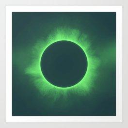 Solar Eclipse in Calcite Colors Art Print
