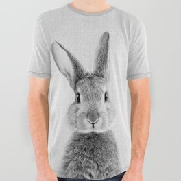Rabbit - Black & White All Over Graphic Tee