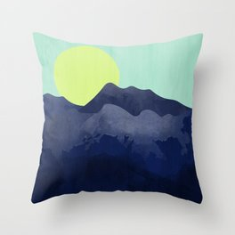 Sunset Mountain Throw Pillow