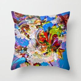 Abstract Perfection 14  Spring Throw Pillow