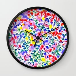 Floral Summer greetings 1A Wall Clock