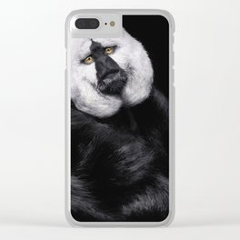 The beggar monkey Clear iPhone Case