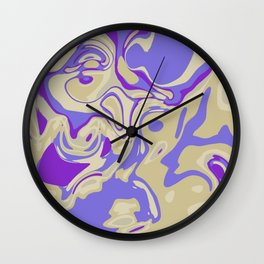 Acrylic Flow #3107 - Blu Berry Mofin Wall Clock