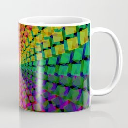 Colorful mosaic pattern design artwork- colorful christmas gifts- pixel art Coffee Mug