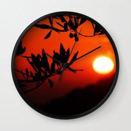 Italian Sunset Wall Clock
