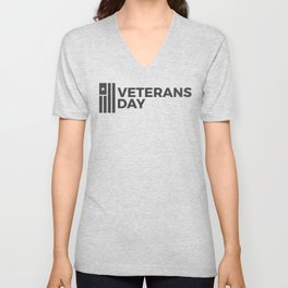 Veterans Day Commemorative Design Unisex V-Neck