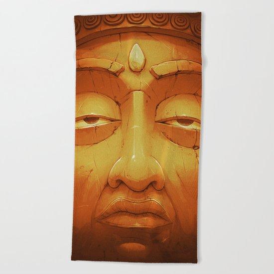 Buddha II Gold Beach Towel