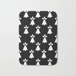Ermine Spots French Country Print Bath Mat