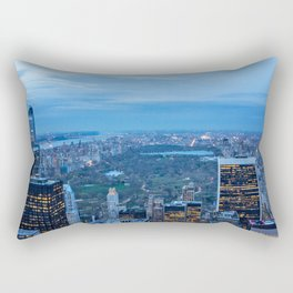 New York City and Central Park Rectangular Pillow