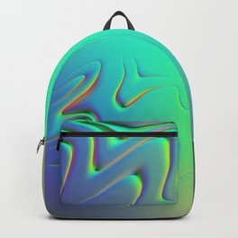 Holographic Abstract Waves - Slime Backpack