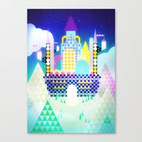 castle in the sky Canvas Prints featuring Castle in the Sky by Alexander Pohl