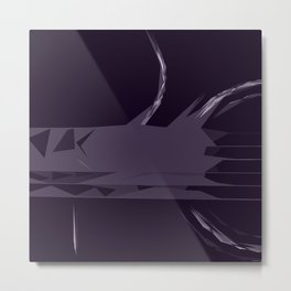 Body (Abstract Guitar Design - Purple) Metal Print