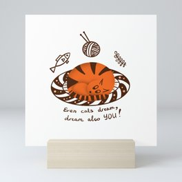 Amusing red cat Mini Art Print