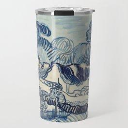 """Vincent van Gogh """"Landscape with Houses"""" Travel Mug"""