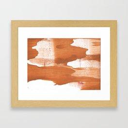Peru hand-drawn wash drawing texture Framed Art Print