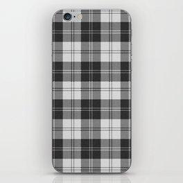 Clan Erskine Tartan // Black & White iPhone Skin