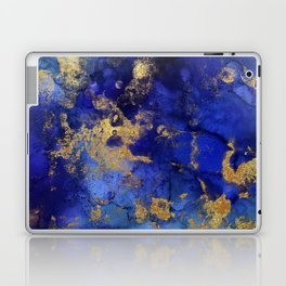 Gold And Blue Indigo Malachite Marble Laptop & iPad Skin