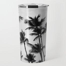 Black and White Palm Trees in Aruba Travel Mug