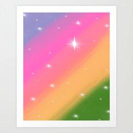 Rainbow Rush Art Print