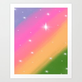 Rainbow Rush Art Print