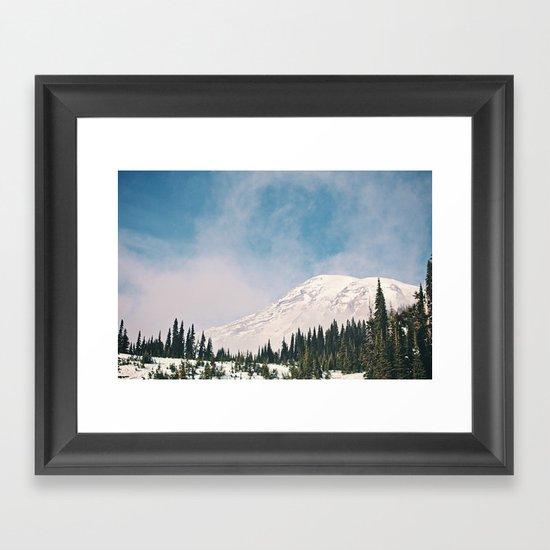 Mount Rainier in the Winter Framed Art Print