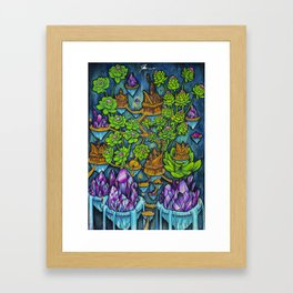 Crystal Treehouse Framed Art Print