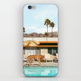 Pool Party Tiger iPhone Skin