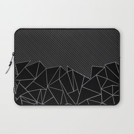 Ab Lines 45 Grey and Black Laptop Sleeve