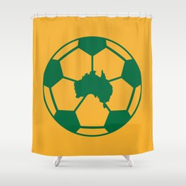 Australian Football Shower Curtain
