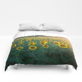 Sunflower Day Comforters