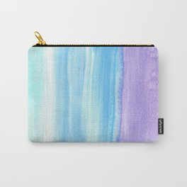 Purple Ultramarine Teal Watercolor Wash Carry-All Pouch