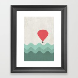 The Hot Air Balloon {The Boring Afternoon Design Series} Framed Art Print