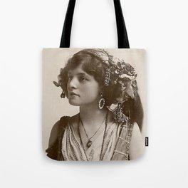 BEAUTIFUL GYPSY GIRL, Circa 1900 Tote Bag