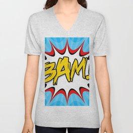 """""""BAM!"""" Pop Art Poster Unisex V-Neck"""