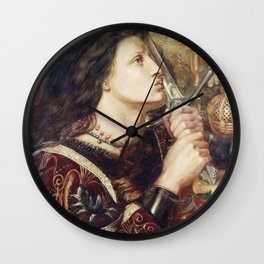 Dante Gabriel Rossetti - Joan Of Arc Kissing The Sword Of Deliverance Wall Clock