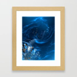 Blue coral melody  Framed Art Print