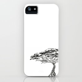 Whistling Thorn , Zen Bonsai African Tree iPhone Case